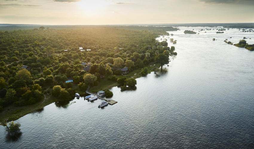 Nestled upon the banks of the mighty Zambezi River