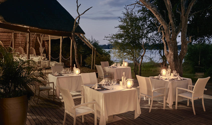 Luxury accommodation and fine dining in the heart of the African bush