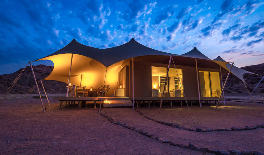 Hoanib Skeleton Coast Camp - guest tent