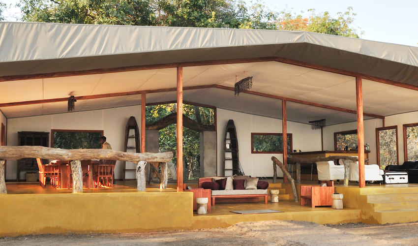 Main Tent housing Dining, Bar and Lounge areas