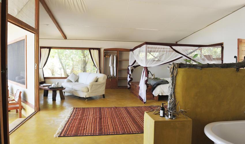 Inside a Safari Tent