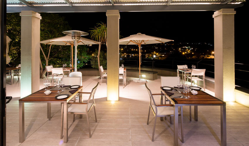 Namibian fine dining in a stunning setting.