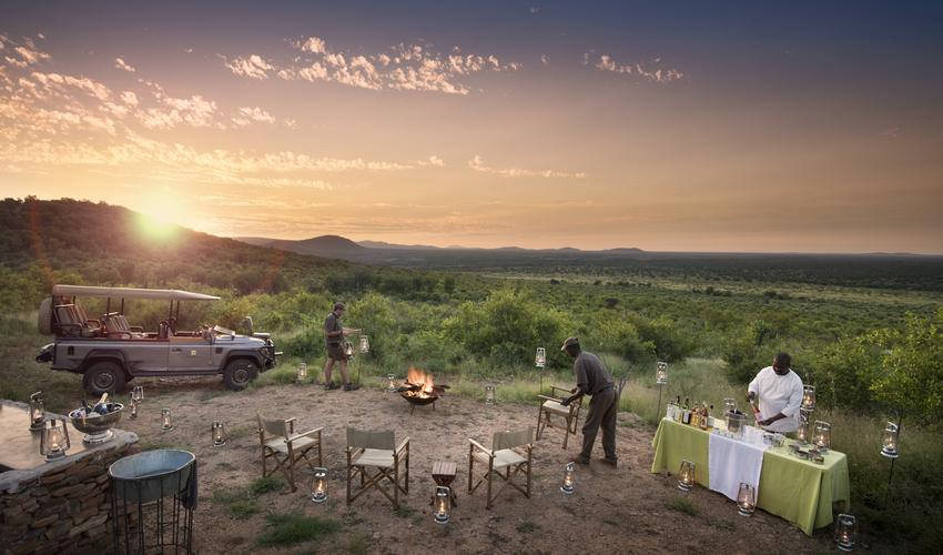 Bush dinner in our private concession inside Madikwe Game Reserve