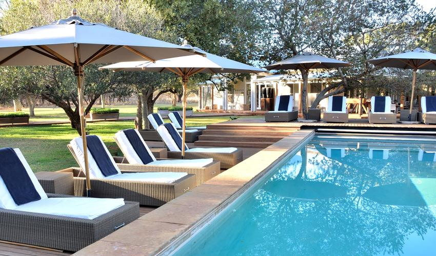 Our large heated pool