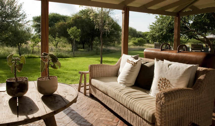 Relax at our veranda in the morning sun
