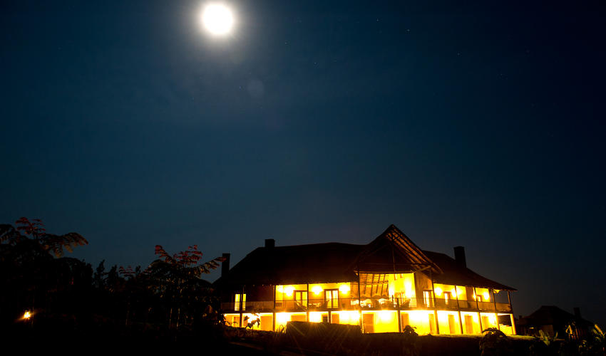 Main house at night