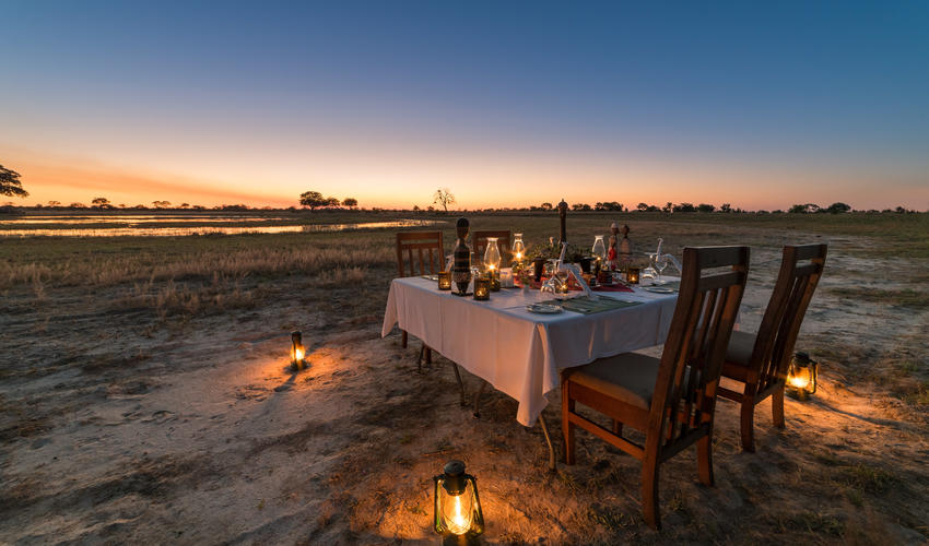 Enjoy one of our delightful bush dinners
