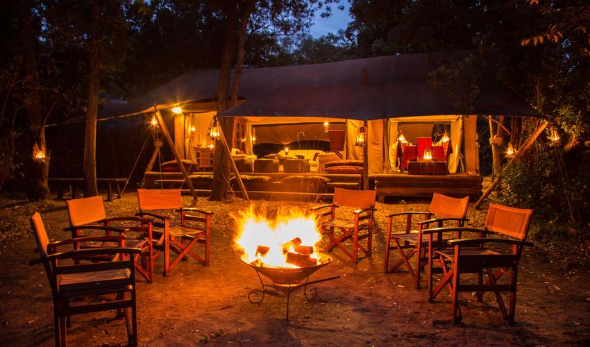 Evening Around the Fire