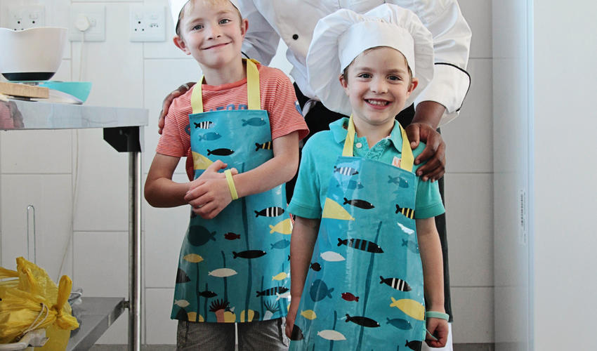Budding master chefs with George