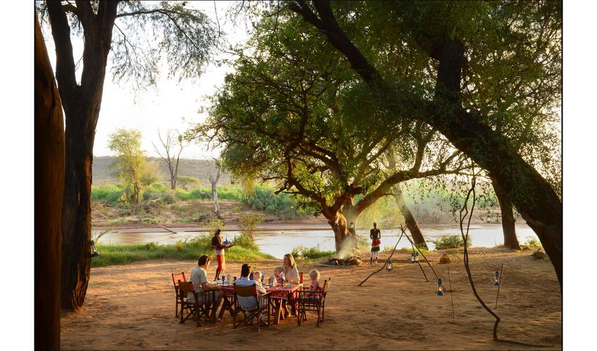 Enjoy a splendid Afro-italian dish by the backs of Ewaso Nyiro river while at Elephant Watch Camp