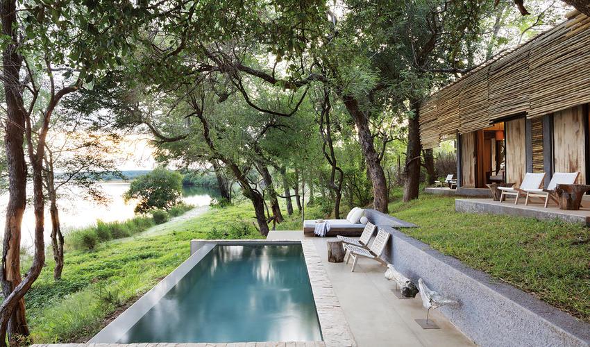 River House Pool Zambezi Sunrise