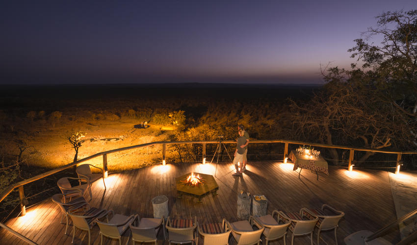 Sun Downer at the fire place
