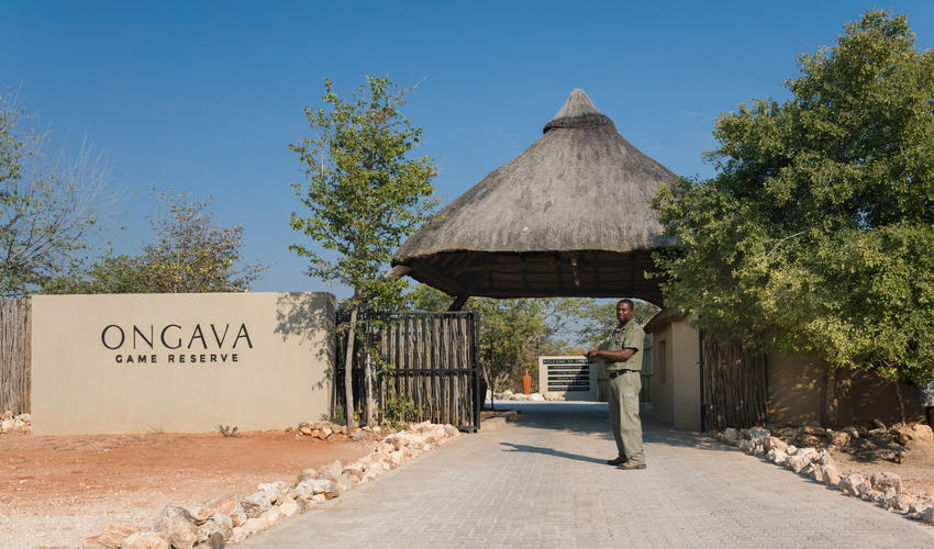 Entrance to Ongava Game Reserve from C38