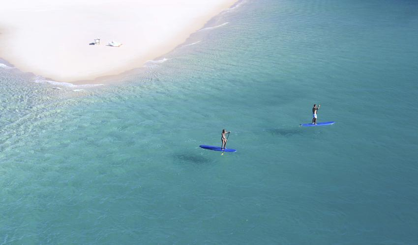 Paddle boards are the best way to experience the waters while still around the island.
