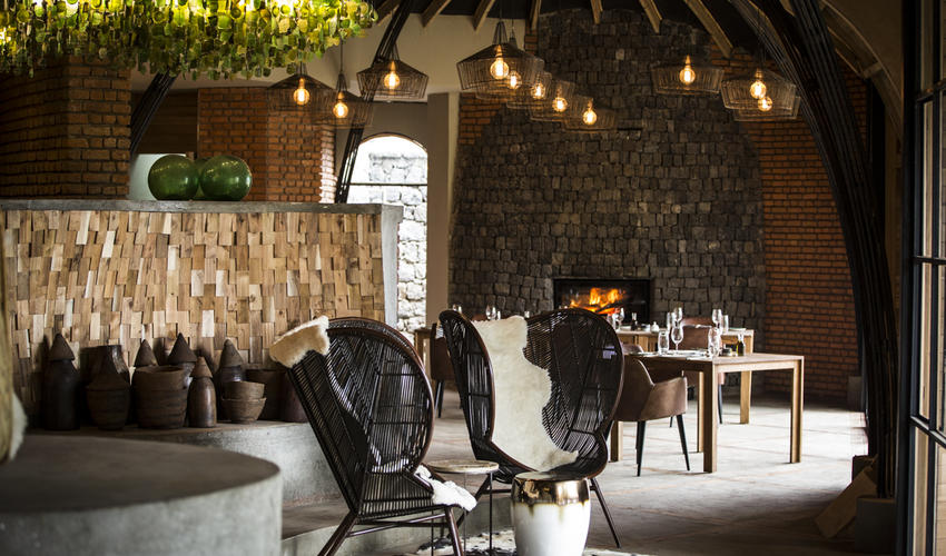 The dining area at Bisate Lodge