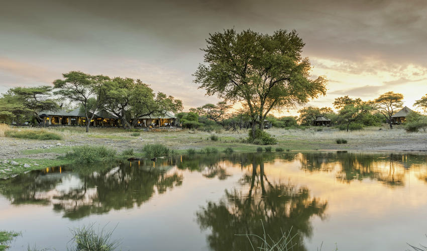 Onguma Tented Camp overlooking the waterhole