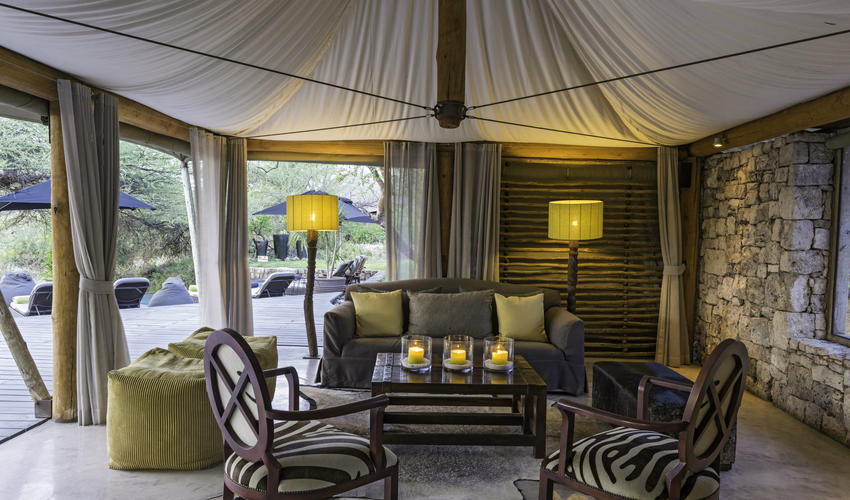 Guest areas at Onguma Tented Camp