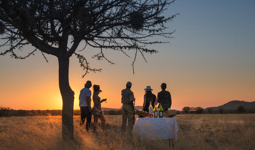 Sundowner on the Ongava Game Reserve