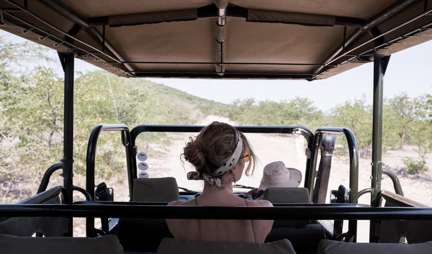Safari Drive on the Ongava Game Reserve