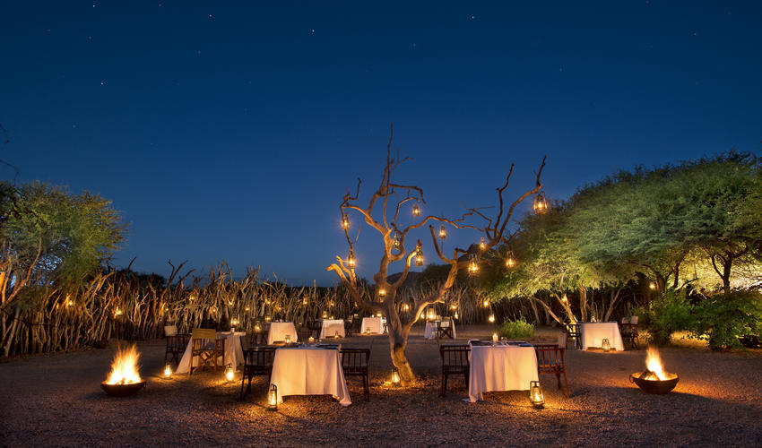 A Boma Dinner under the stars