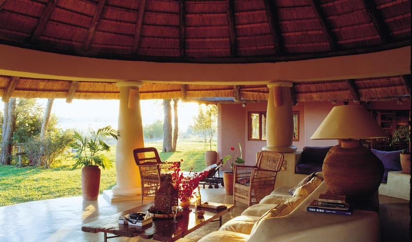Enjoy expansive, exclusive views of the Zambezi River