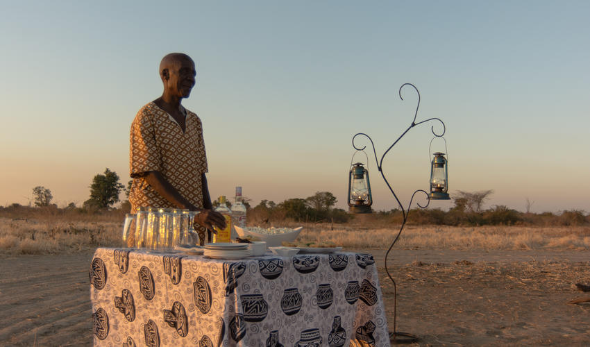 Special sundowner stops are a nice surprise for the guests