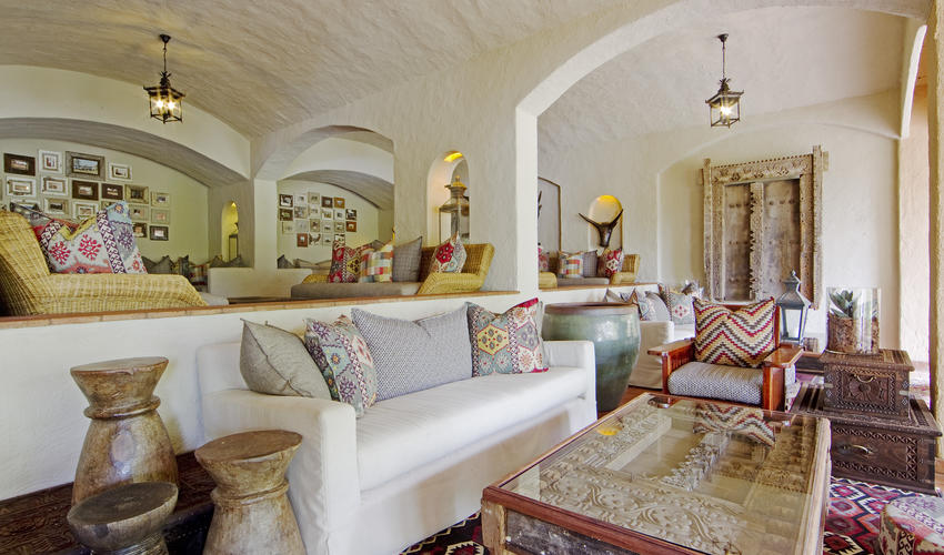 Beautifully Moorish inspired decor throughout the lodges interior lounges