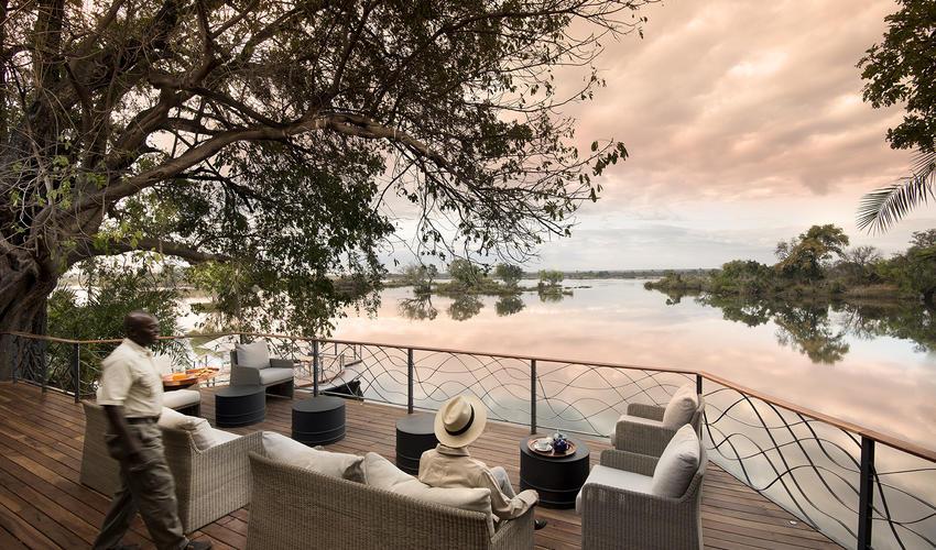 Relaxing moment by the Zambezi