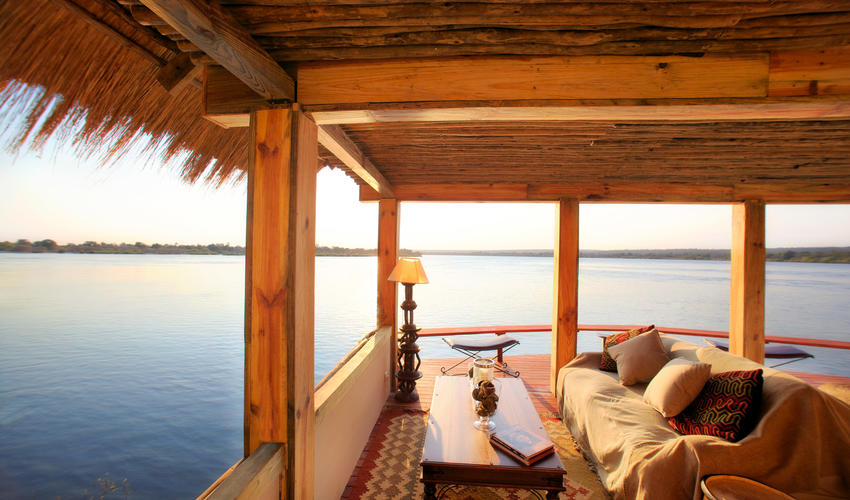 Designed exclusively to allow private dining with splendid Zambezi views.