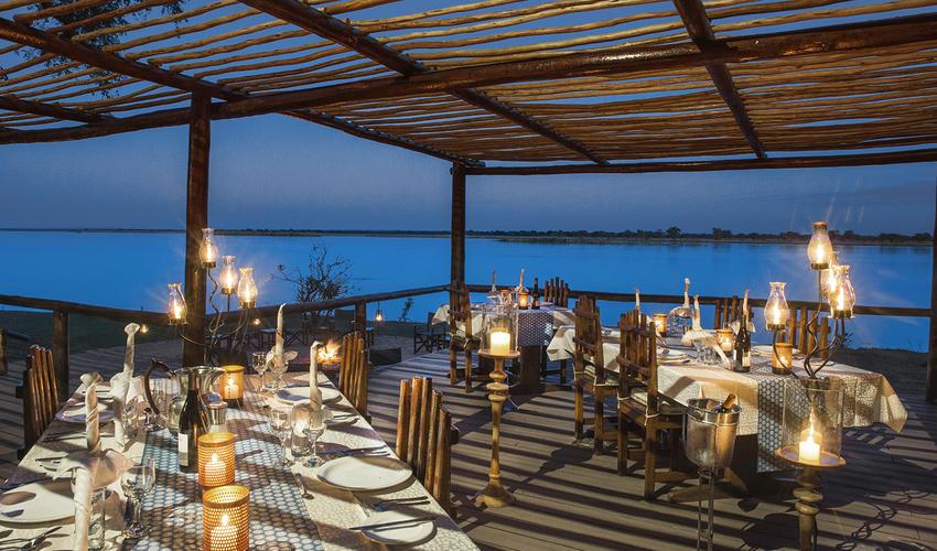 Chiawa Camp - new dining deck overlooking the Zambezi