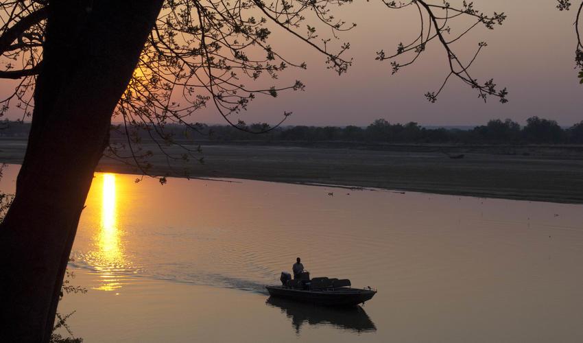 Boating the Luangwa in the Emerald Season