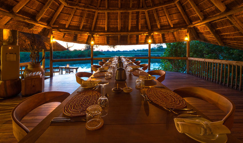 The dining area at Savuti