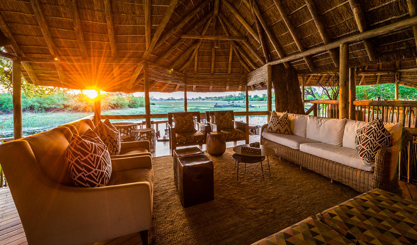 Savuti Camp lounge area