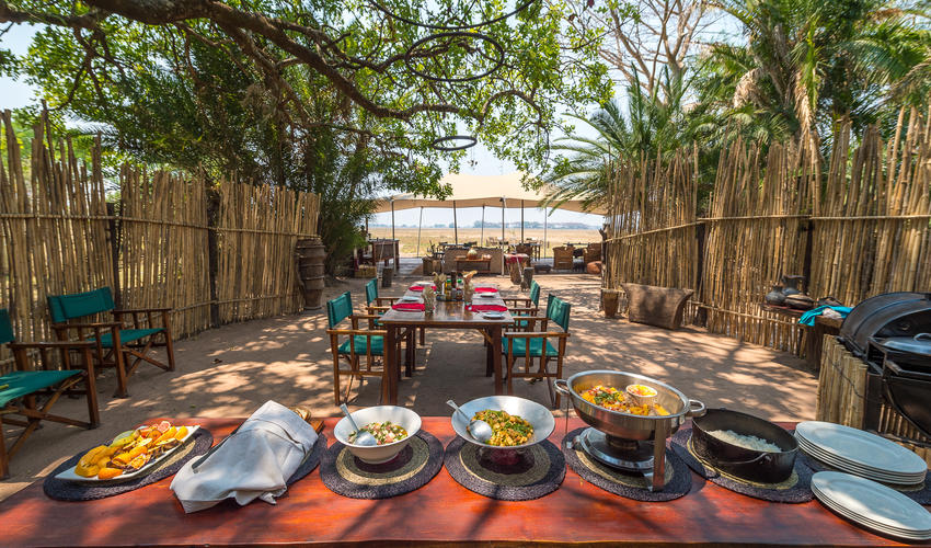Lunch spread at Busanga