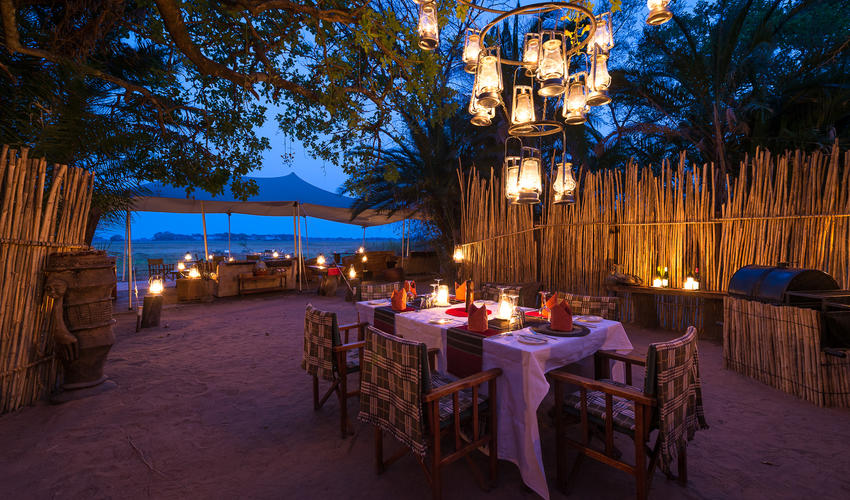 Dinner by lantern light