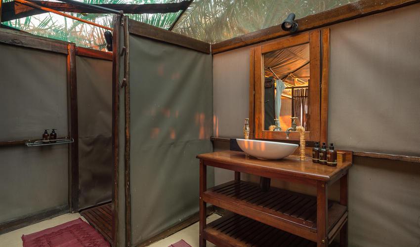 guest tent bathroom