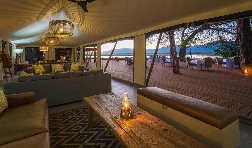 Guest lounge area and adjacent al fresco dining area