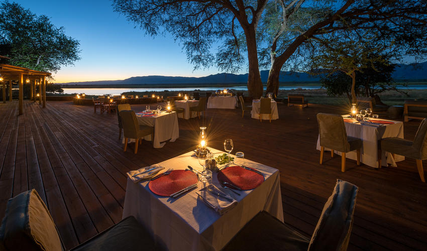 Balmy weather allows for dining under the stars most evenings