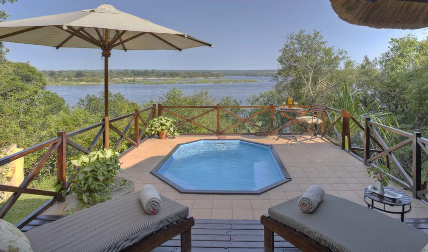 Luxury River Suite with private deck and plunge pool