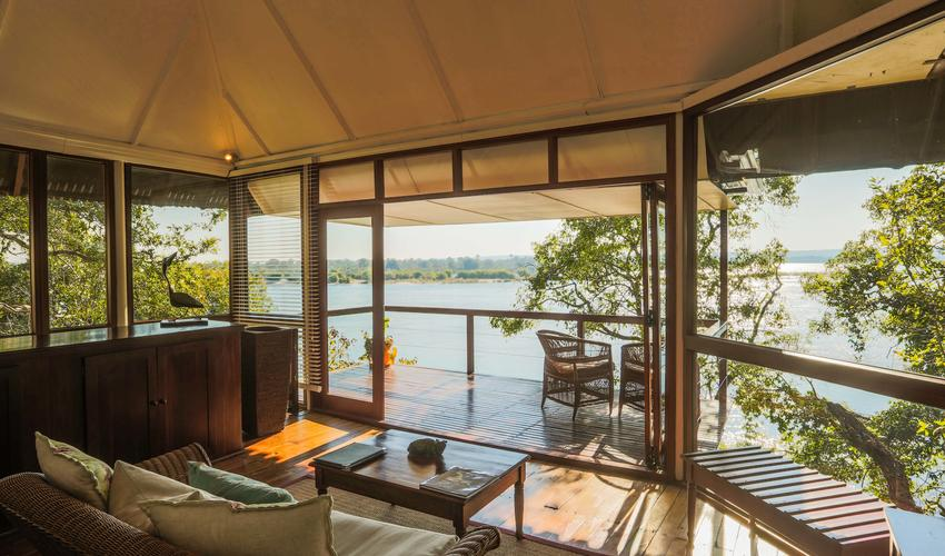 Nestled along the bank of the Zambezi River
