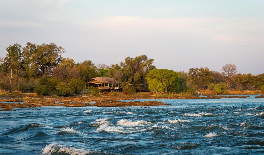 Zambezi rapids at Toka Leya