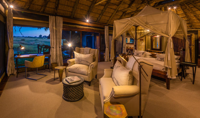 Guest tents have ample space to relax