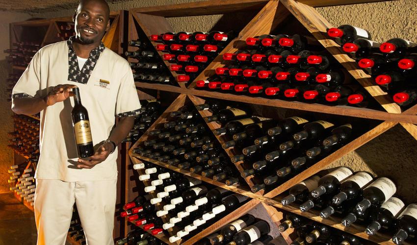 Selinda Camp Wine Cellar
