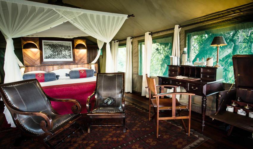 Selinda Camp Tent Interior