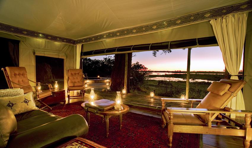 Each Zarafa Tent has a Living Room