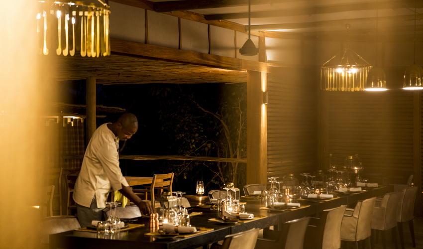 Communal dining is a highlight on safari