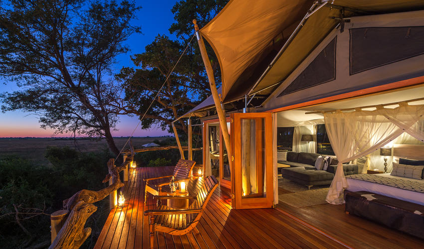 Watch the sun set from your private deck
