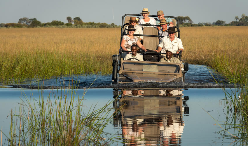 Explore land and water by vehicle