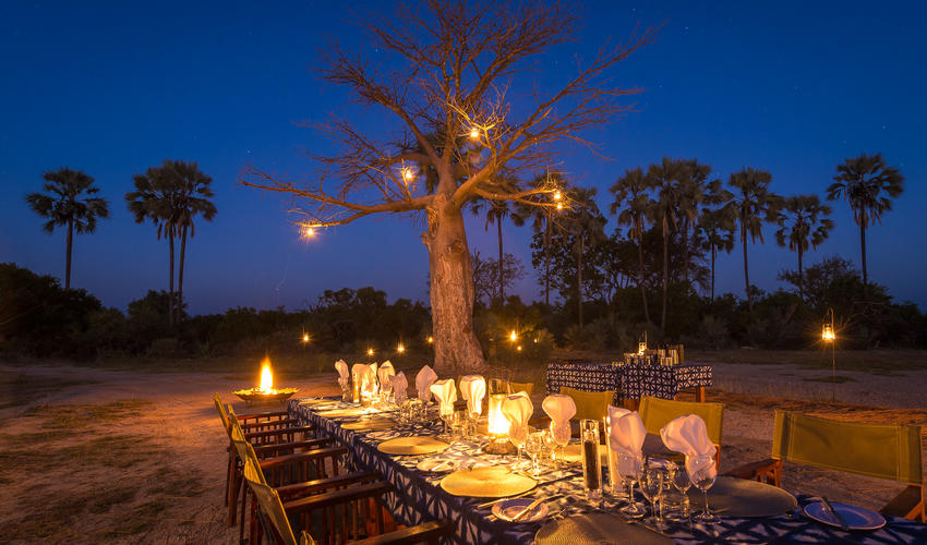 A spectacular setting for outdoor dining