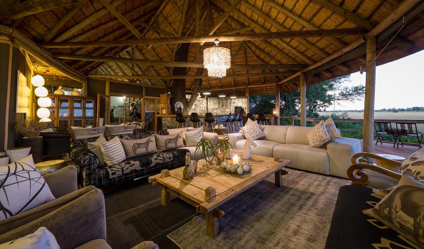 The stylishly furnished main lounge